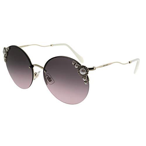 Miu Miu 0MU52TS VW7146 60 Gafas de sol, Dorado (Pale Gold/Pink Grey), Mujer