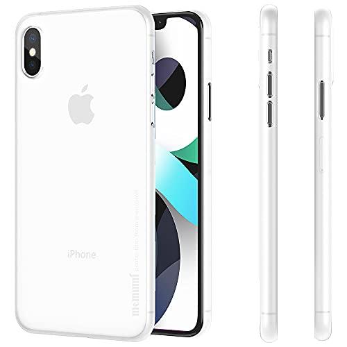memumi Case for iPhone XS,Cover for iPhone XS, 0.3mm Custodia Ultra Sottile Anti-Graffio e Resistente alle Impronte Digitali Caso della Copertura Protettiva in Plastica Dura (Trans-White)