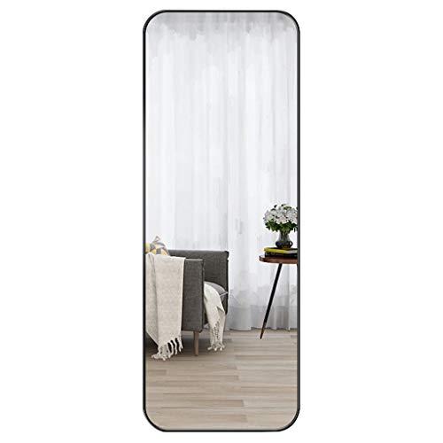Betty Espejo Alto de Cuerpo Entero 40 × 120 cm Rectángulo Negro Entrada Vestidor Espejo Marco de aleación de Aluminio HD Decoración irrompible Espejo multipropósito para el hogar