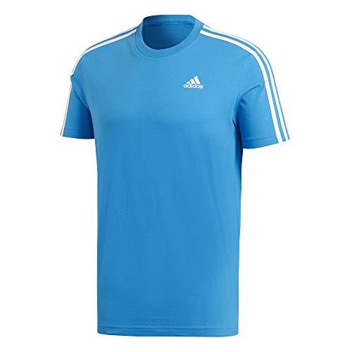 adidas ESS 3S tee Camiseta, Hombre, Azul/Blanco (Bright), S