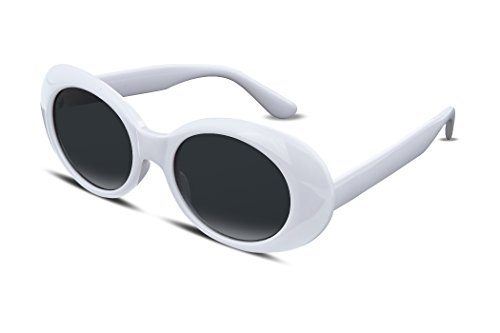 FEISEDY White Clout Goggles Kurt Cobain Sunglasses HypeBeast Oval Mod Style B2253