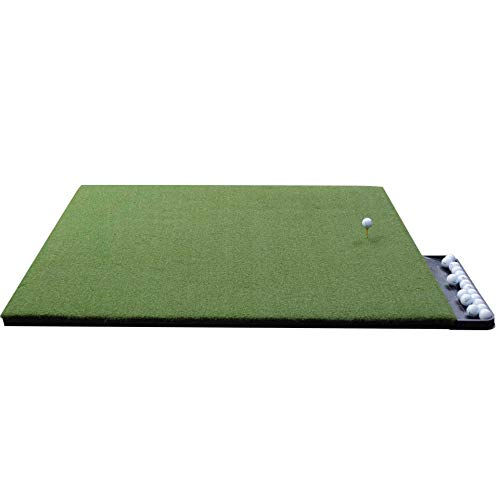 DURA-PRO Perfect Reaction Golf Mat - 4x5 Feet Premium Turf Indoor Outdoor Mat for Hitting & Chipping - Golf Stance Mat w Golf Accessories (Golf Tray + 3 Rubber Golf Tees)