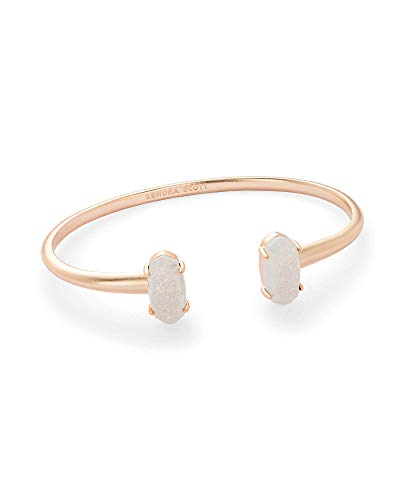 Kendra Scott Edie Cuff Bracelet for Women, Fashion Jewelry, 14k Rose Gold Plated, Iridescent Drusy