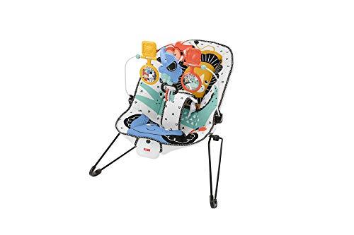 Fisher-Price Columpio para Bebé con Vibraciones y Barra con Juguetes, Mecedora para Bebé (Mattel GNR00)