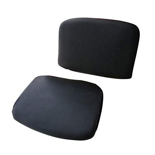 SM SunniMix Stuhlbezug Schonbezug Stuhl Hussen Set für Bürostuhl Drehstuhl, inkl. 1 Stück Rückenteil und 1 Stück Sitzbezug - Schwarz