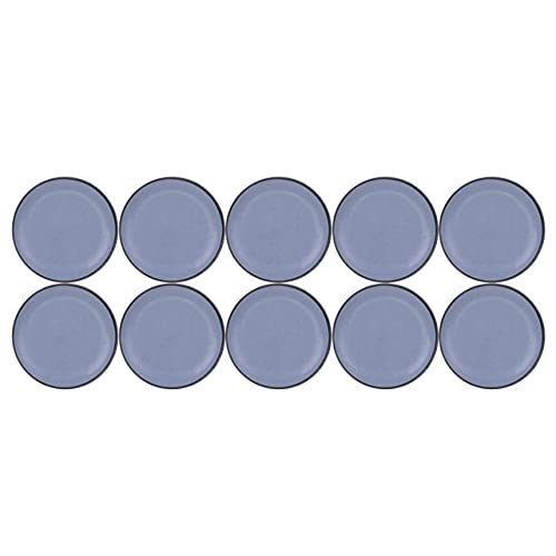 10Pcs Anti-Abrasion Furniture Leg Slider Pads Self-Adhesive Floor Protector Easy Move Fitting Leg Caps Table Chair Glide Covers-20mm Blue Yellow