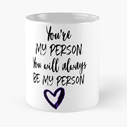 You are My Person- Greys - Taza de cerámica de mármol blanco