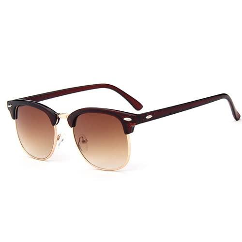 Mcottage Gafas de Sol Hombres y Mujeres Remaches Retro Diseño de Lentes Gafas de Sol Mujer UV400