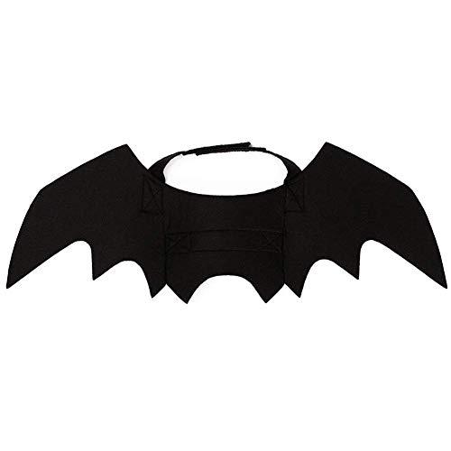 GOUPPER Halloween kat kostuum pak pompoenen kraag bel zwart vleermuis vleugels voor puppy hond kat