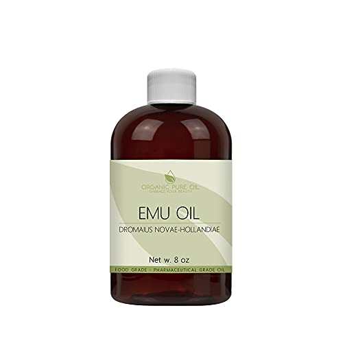 Australian Emu Oil - 7 Times Refined - 100% Pure Creamy Rendered Extra Strength Natural - 8 oz - Premium Grade A Hair Face Body Joint Muscle Hair Growth Beard Nail Cuticle - OPO - Packaging May Vary