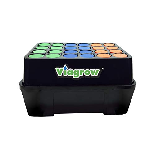 Viagrow VCLN24 Clone Machine 24 Site Aeroponic Hydroponic System, Single, Black