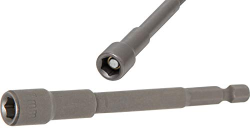 BGS 2763 | Steckschlüssel-Einsatz Sechskant, extra lang | für Bohrmaschinen | Antrieb Außensechskant 6,3 mm (1/4