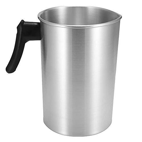 Jroyseter 3L kaars maken gieten pot aluminium bouw wax smeltpot gieten kruik met dripless gieten uitloop DIY kaars maken gereedschap voor thuis - 1,8 kg