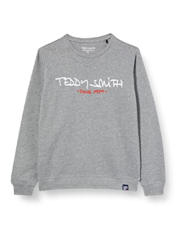 Teddy Smith S- MICKE RC JR Sweatshirt, Gris Chine Moyen, 12