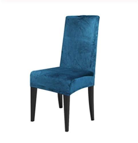 ASVNDD Velvet Dining Chair Abdeckung Spandex Elastic Stuhlbezug Fall for Stühle Büro Hochzeit Esszimmer Stuhl-Abdeckung Stretch (Color : Teal Blue, Specification : Universal)