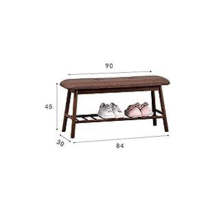 JJZXD Pie de Cerco de heces de bambú Zapato Gabinete de Almacenamiento de Calzado tapizada Mueble de casa (Color : B, Size : L)