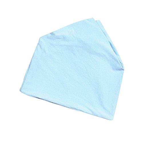 Fenical Puur Katoen Postpartum Bevalling Gebruik Beanies Hoed Chemo Kanker Cap Sjaal (Blauw)