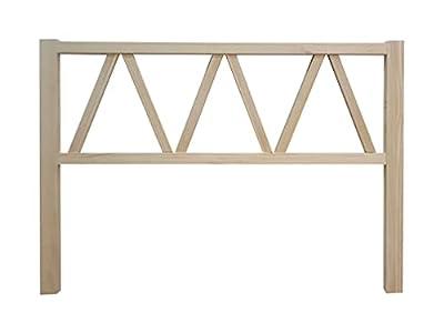 materiales: madera maciza de pino insigni medidas: 160 x 120 x 3 (ancho,alto,grueso) acabado: Crudo sin pintar cabecero de una pieza con anclajes para la pared