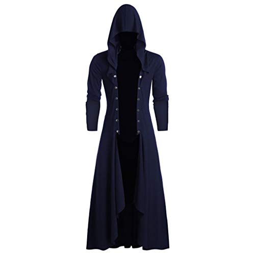 LOPILY Damen Herren Mantel Frack Jacke Gothic Gehrock Uniform Kostüm Praty Outwear