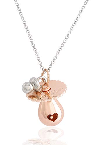 CALL ANGELI SILVER Mexican bola shaped PINK Dummy with pacifier applied necklace CM.100