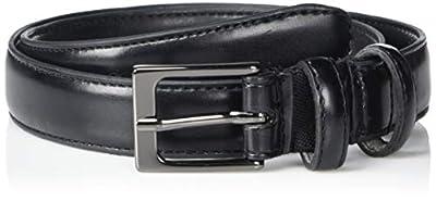 Van Heusen Boys' Double Loop Dress Belt, Black, Extra Large (20-24)