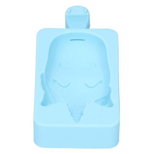Moldes de helado fáciles de limpiar, color azul cielo, resistentes, fáciles de usar para pudín de hielo para frigorífico (azul cielo, unicornio)