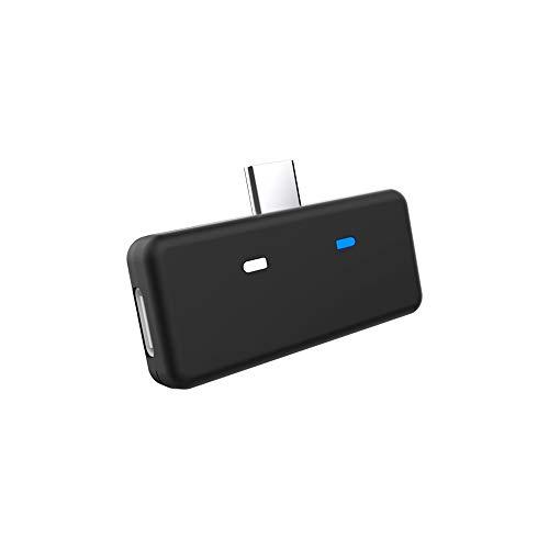 KKmoon Adaptador de transmissor de áudio Bluetooth 5.0 APTX de baixa latência compatível com Nintendo Switch PS4 TV PC USB/Type-C transmissor sem fio