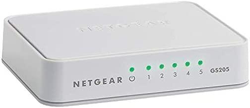 NETGEAR 5-Port Gigabit Ethernet Unmanaged Switch (GS205) - Desktop or Wall Mount, Home Network Hub, Ethernet Splitter, Plug-and-Play, Silent Operation