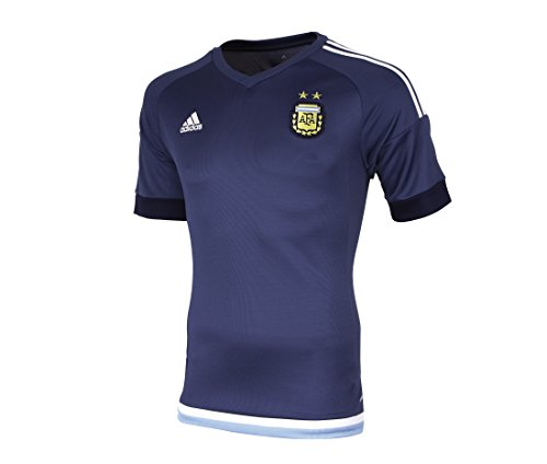 adidas AFA H JSY - Camiseta para hombre, color azul marino / azul / blanco / dorado, talla S