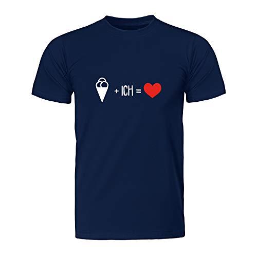 EIS Plus ich gleich Liebe, Herren T-Shirt - Fairtrade -, Größe XL, Navy