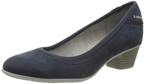 s.Oliver Damen 5-5-22301-34 Pumps, Blau (Denim 802), 40