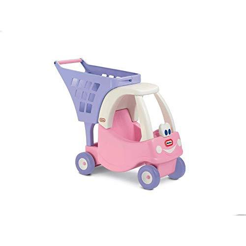 Little Tikes Chariot Cozy - Épicerie imaginaire pour enfants - Coffret de jeu pour tout-petits - Rose / Violet