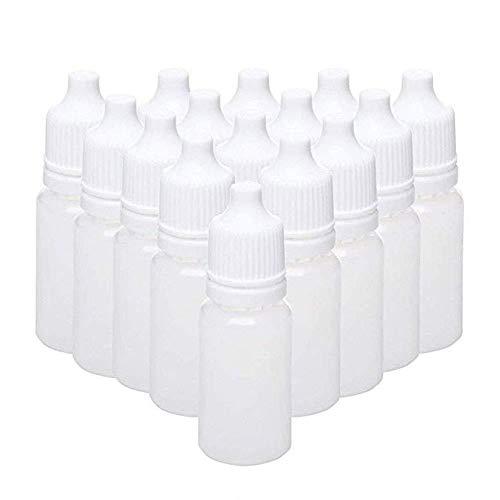 Depory 50x Flacon en Plastique Vides Bouteilles Liquide Squeezable Bouteille Gouttes oculaires de Bouteille Plastique avec bouchon-10ml