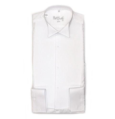 Frackhemd Botthof, Slimline, piqué, 100% Baumwolle Größe 44