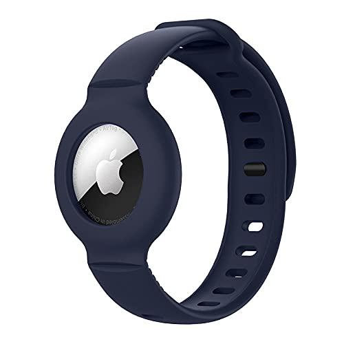 Silikon-Armband für Apple AirTag, weiches Armband, für AirTags, Rucksäcke, Haustiere, ältere Menschen, Kinder