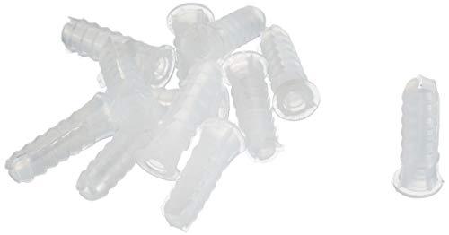 Sysfix 2120600 - Pack de 25 tacos de fijación para pared (polietileno de baja densidad/LDPE, 6 x 22 mm, 3 patas) color blanco