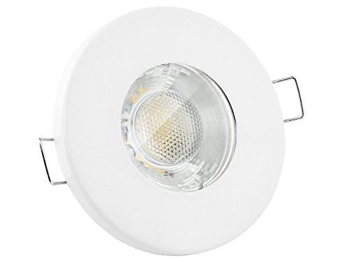 linovum LED Einbauleuchte flach IP65 weiß mit Wasserschutz - mit 6W LED GU10 Lampe neutralweiß - Einbauspot für Bad & Dusche