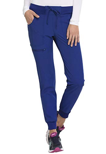 HeartSoul Low Rise Tapered Leg Jogger Scrub Pant, Royal, Medium