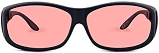 TheraSpecs WearOver Migraine Glasses for Light Sensitivity, Photophobia and Fluorescent Lights | Fits Over Prescription Eyewear | Unisex | Indoor Lenses