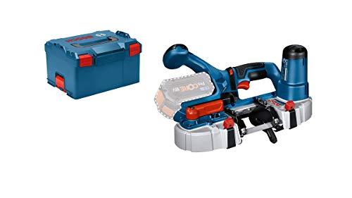 Bosch Professional 18V System Akku Bandsäge GCB 18V-63 (inkl. 2 Bandsägeblätter, ohne Akkus und Ladegerät, im Karton