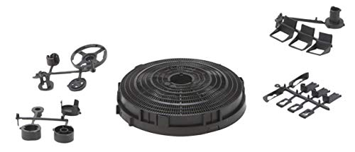 DREHFLEX - Kohlefilter Aktivkohlefilter 210mm mit Öffnung und Zubehör z.B. passend für Bosch/Siemens 644195 00644195 oder Bauknecht Whirpool FAC549