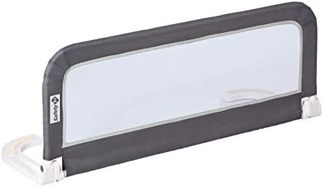 Safety 1st Barrera de cama portátil y extensible, Barandilla cama plegable de viaje, barrera de cama con protección a...