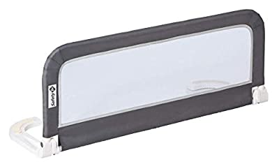 Barandilla de cama de viaje plegable: se pliega y estira para facilitar su transporte Barrera de cama portatil. Dimensiones del producto abierto: 106 x 37 x 42,5 cm Riel con marco metálico y tejido de malla para el control Barandilla adecuada para co...