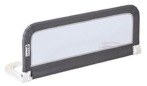 Safety 1st Tragbares Bettgitter für Kleinkinder, Kompakt faltbar/klappbar, Kinderbettgitter ideal auch für unterwegs, sicherer Rausfallschutz, Dunkelgrau