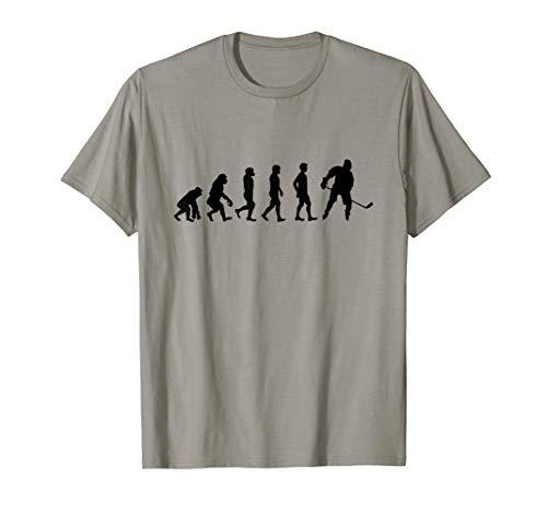 Evolution Eishockey   Eis Hockey Spieler Puck   Geschenk T-Shirt