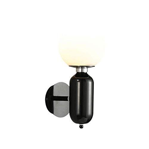 MKXF Lámpara de Pared Lámpara de Pared para Dormitorio, Lámpara de Pared de Pantalla de Cristal Transparente Global Redonda, Sala de Estar nórdica
