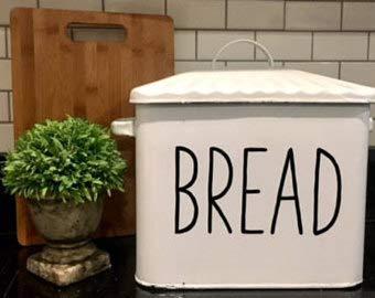 Decal Only-Brood Vinyl Decal-Boerderij Decal-Rustieke Brood Doos Decal- Boerderij Stijl Keuken Decal voor Brood Doos