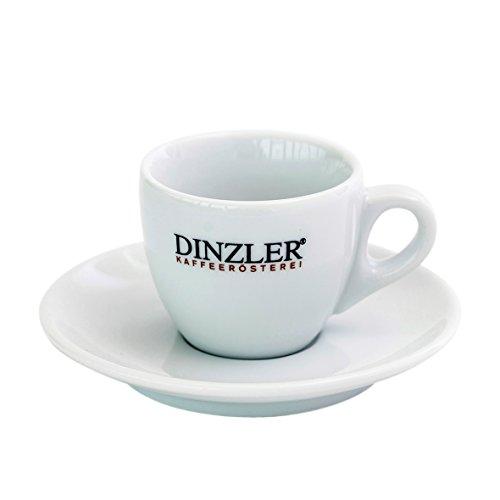 Dinzler Kaffeerösterei - Espressotasse mit Dinzler Logo, und Unterteller