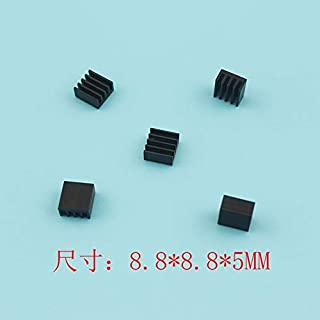 Davitu 100pcs 8.88.85mm Heatsink Radiator Cooling Fin Aluminum Heat Sink - (Color: Black)