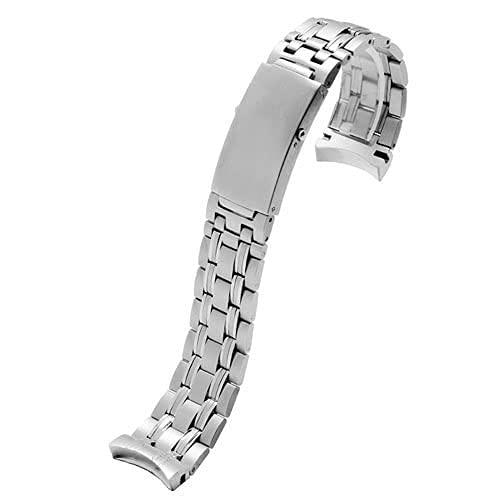 RVTYR Correa de Reloj, Correa de Acero Inoxidable Correa de Pulsera de Plata Correa de Metal Intercambiable para Accesorios de Reloj Pulsera Correas de Reloj (Color : 20mm, Size : Silver A)